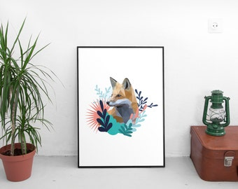 Foxy fox Print lowpoly