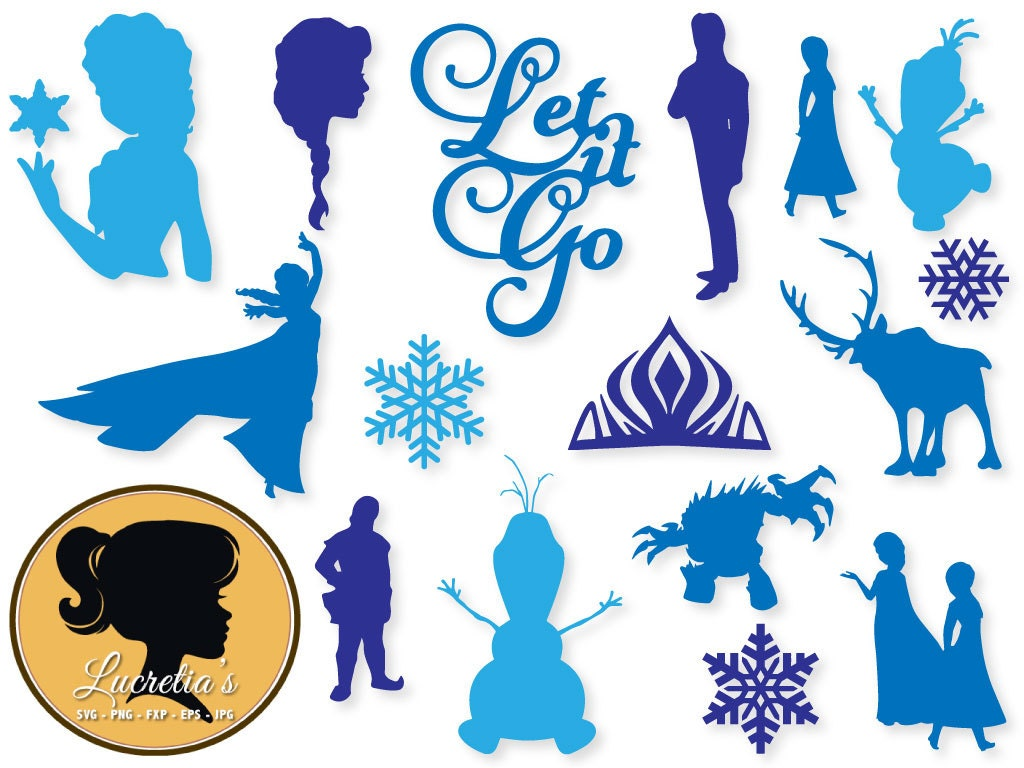 Frozen dxf Frozen clipart SVG files for Silhouette Cameo or Disney Frozen Logo Vector