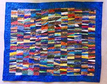 """Title """"River Prism"""" Art Quilt"""
