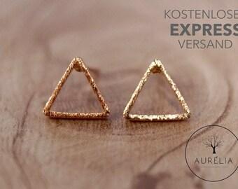 "Rosé gold earrings ""Triangle"""