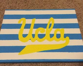 UCLA college dorm room painting