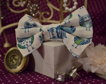 Owl Pattern Hair Bow
