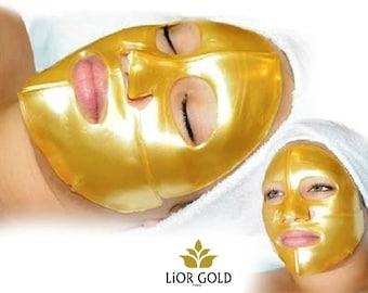 24K Lior Gold karat golden facial mask - 6 pieces