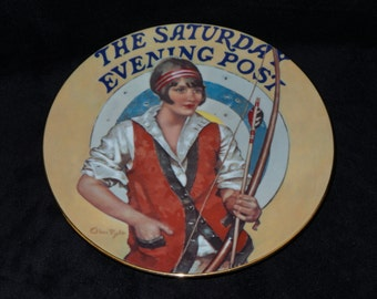 """1984 Hoyle Nostalgia Magazines """"The Saturday Evening Post"""" Collector Plate by Ellen Pyle"""