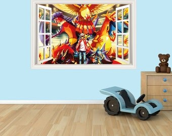 Pokemon 3D Effect Graphic Wall Vinyl Sticker Decal