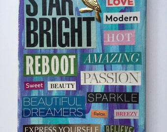 "Word Collage ""Star Bright"""