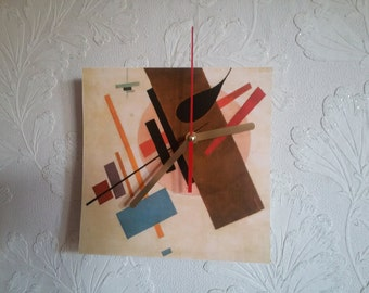 Wall clock Suprematism Kasimir Malevich painting print face FREE Shipping