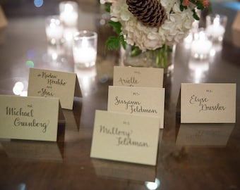 Handwritten Seating Cards for Wedding