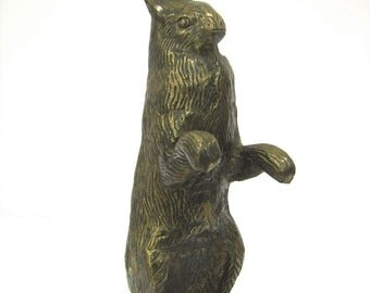 Brass Textured Rabbit
