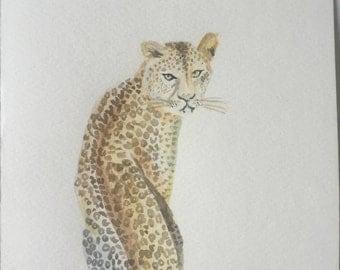 Blade Leopard in watercolor