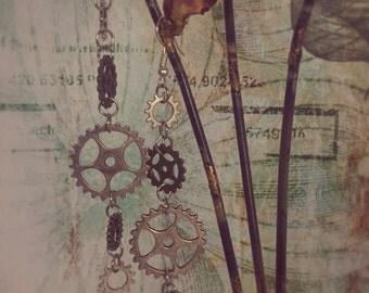 Stermpunk Earrings - Gear Earrings - Steampunk Costume Accessories