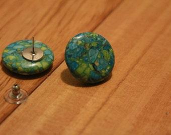 Funky Green Earrings