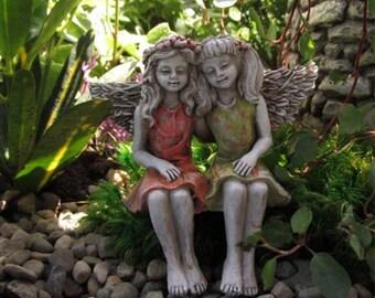 Miniature Dollhouse FAIRY GARDEN ~ Best Friend Fairies  ~ NEW