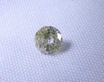 0.37ct Greenish Yellow Diamond , 100% Natural Untreated