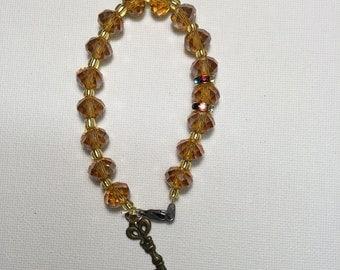 Yellow crystal Beaded bracelet
