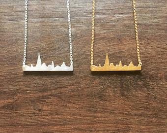 New York Skyline Necklace    Landscape necklace   Cityscape necklace