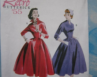 Butterick 5556 1955 Reproduction Dress Sewing Pattern 16-22