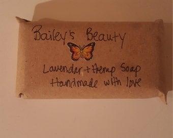 Handmade lavender and hemp soap