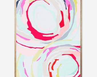 Abstract art, Abstract Wall Art Prints, Pink, Nursery print, Digital Print, Modern Abstract Art, Abstract print, Minimalist, Art Work 16x20