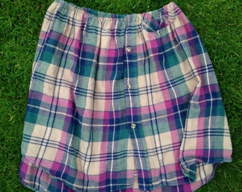 renewed tartan skirt