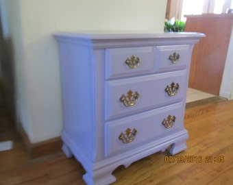 Lavender Broyhill End Table Night Stand Dresser