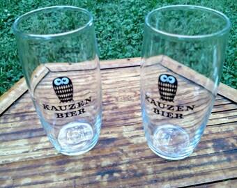 Vintage Kauzen Bier Shot Tumbler Glass