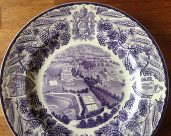Wedgwood College of the Holy Cross 1932 Airplane view Plate
