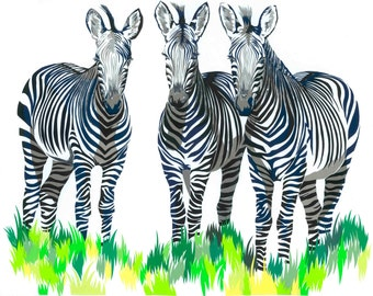Zeal of Zebras limited edition signed giclee fine art print