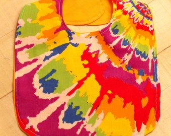 Tie Dyed Print Infant Bib