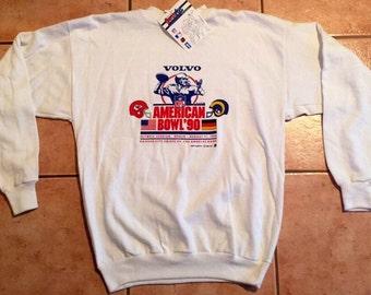 Vintage 1990 Volvo American Bowl Sweatshirt - Chiefs & Rams DEADSTOCK