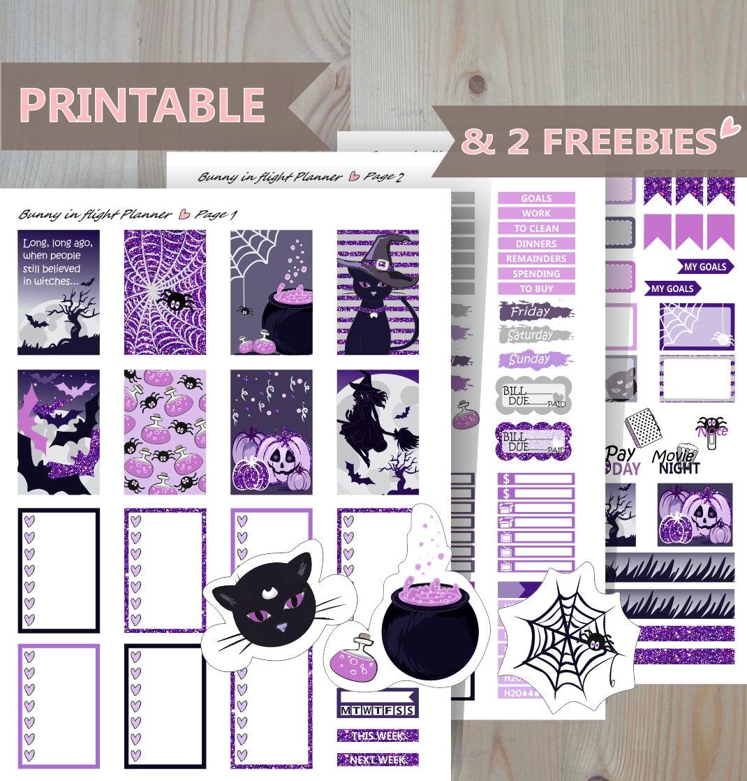 Halloween Night Happy Planner weekly kit Printable weekly