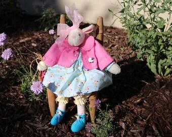 Hollyhocks and Ivy --Spring Lamb