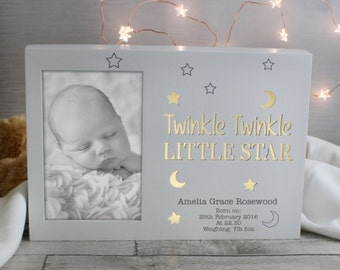 Personalised Twinkle Twinkle Frame that lights up