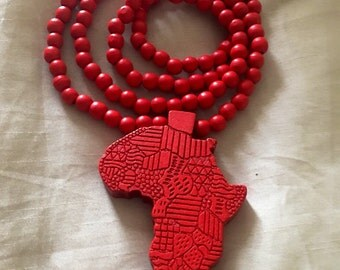 20-inch Wooden beaded Africa necklace
