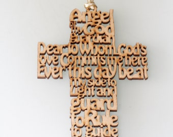 Lord's prayer. Wood. Beautiful gift for kids.  First Communion.