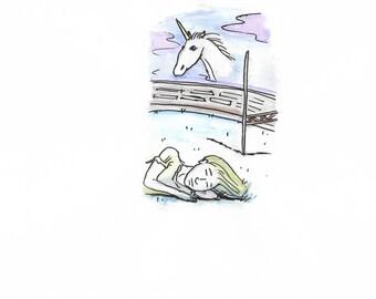 The Virgin Suicides: Original Watercolour Drawing