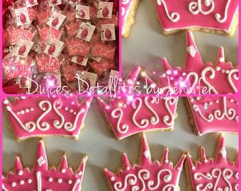 Princess Crown cookies (12 qty)
