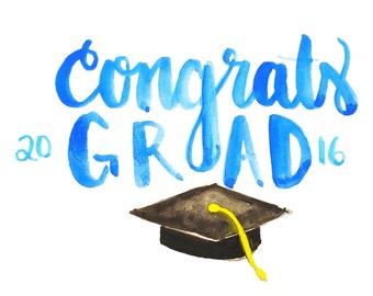 Congratulations Graduate Watercolor Card