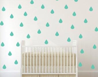 Raindrop Decal,  Nursery Wall Decals, Raindrop Wall Decals, Baby Nursery Ideas, Vinyl Wall Decals, Baby Nursery Decals, Confetti Wall Decals