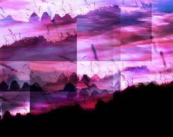 Abstract Landscape Photograph, Pink Sunset, Contemporary Art, Sunset Photo Print, Fine Art Abstract Photo
