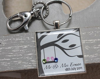 Personalised Your Unforgettable Moments Keyring with Swarovski Birthstone