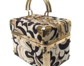 1960's Mod Cut Velvet Italian Box Bag