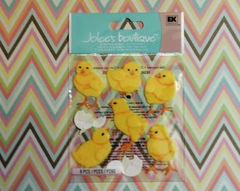 Baby chick scrapbook stickers by Jolee's Boutique