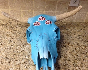 Rose Cow Skull