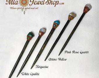 Stone Hair Stick