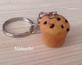 Miniature Food Keychain, Keychain, Polymer Clay Food Keychain, Food Key Ring