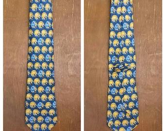 Late 1980's Leonard silk tie - raccoon and flower motif