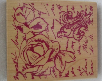 Rose and Romance Rubber Stamp by Rubber Stampede Paper Crafting