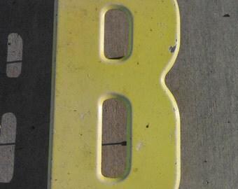 "10"" RUSTIC VINTAGE METAL Letter -B- 1960's  Marquee"