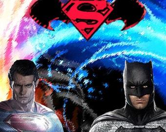 Superman and Batman Print